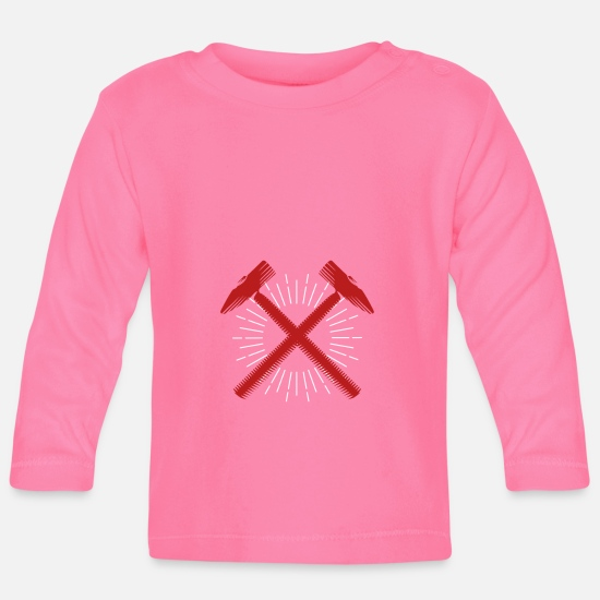 Birthday Baby Clothes - Red hammer Weapon Cool Gift - Baby Longsleeve Shirt azalea