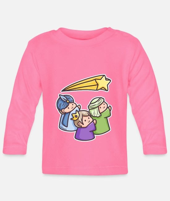 Church Baby Long-Sleeved Shirts - Holy three kings morning land Christmas gift - Baby Longsleeve Shirt azalea