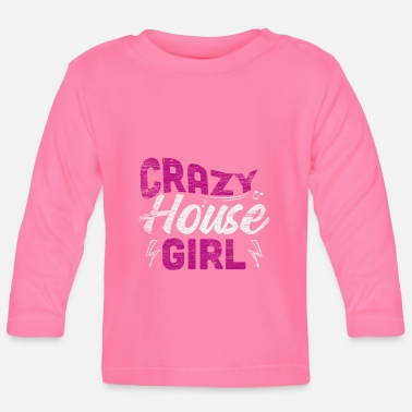 Música House music girl - Camiseta de manga larga bebé