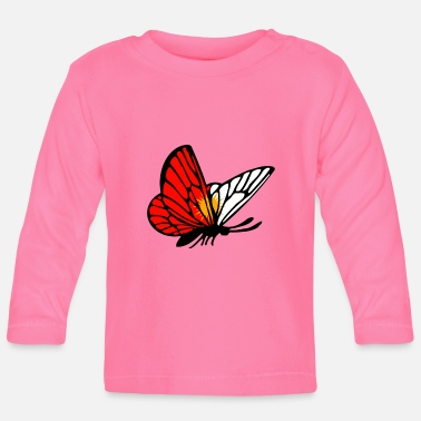 Irak Ezidxan butterfly with the flag of the Yezidi - Baby Longsleeve Shirt