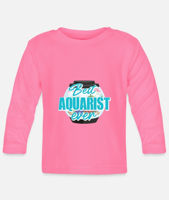 Aquarium Baby Long-Sleeved Shirts - Aquarium - Baby Longsleeve Shirt azalea