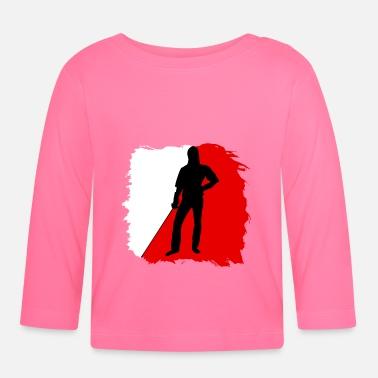 Gjerdet folie silhuett hvit rød Baby T skjorte | Spreadshirt