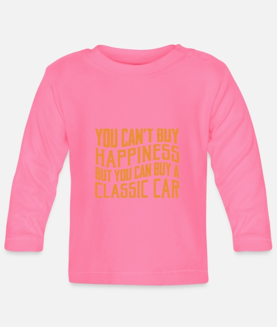 Cars Baby Long-Sleeved Shirts - Classic car - Baby Longsleeve Shirt azalea
