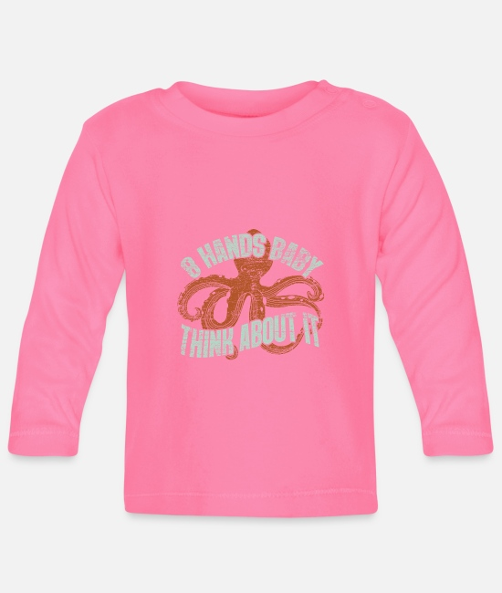 Puffer Fish Baby Long-Sleeved Shirts - Octopus - Baby Longsleeve Shirt azalea