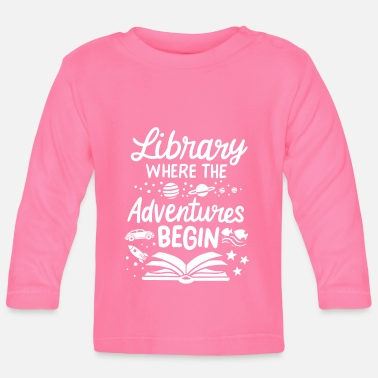 Library Library library reading books - Baby Longsleeve Shirt