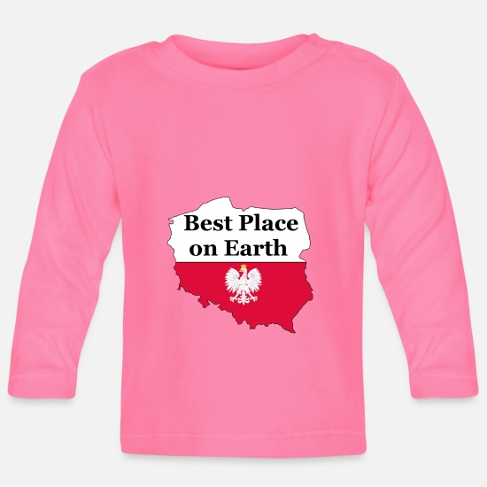 Patriot Baby Clothes - Polska Poland Country Polish Patriotism Patriot - Baby Longsleeve Shirt azalea