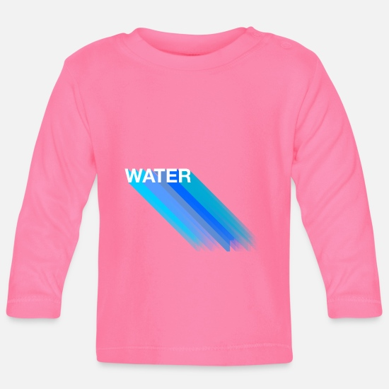 Digital Baby Clothes - water - Baby Longsleeve Shirt azalea