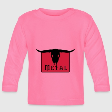 Death Metal Metal Skull - Baby Long Sleeve T-Shirt