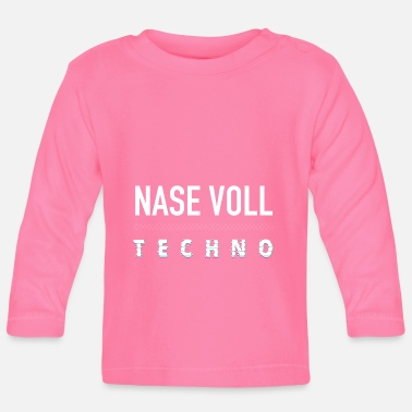 Dubstep Techno Club Rave Raver DJ Minmal Acid Bass House P - Baby Langarmshirt