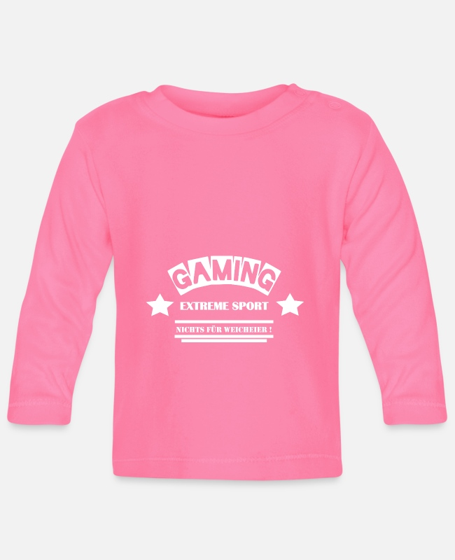 New Baby Long-Sleeved Shirts - Gaming - Not for the Whimsy - Leibl Designs - Baby Longsleeve Shirt azalea