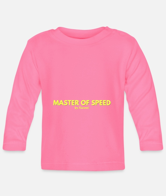Speed Metal Baby Clothes - Master of Speed by Xiaomi - Baby Longsleeve Shirt azalea