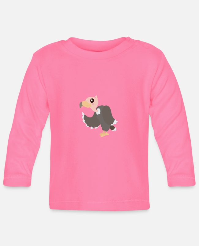 Clip Art Baby Long-Sleeved Shirts - vulture - Baby Longsleeve Shirt azalea