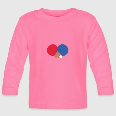 Table tennis racket and ball - Baby Long Sleeve T-Shirt