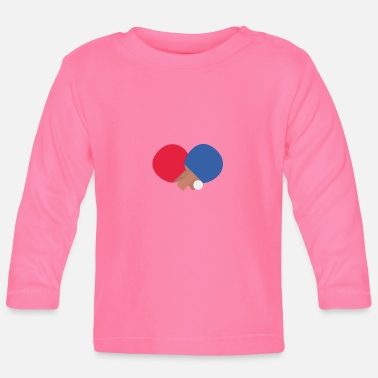Table Tennis Table tennis racket and ball - Baby Long Sleeve T-Shirt
