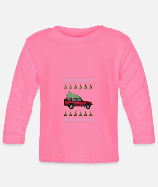 Christmas Baby Clothes - Discovery 2 Red Christmas Light - Baby Longsleeve Shirt azalea
