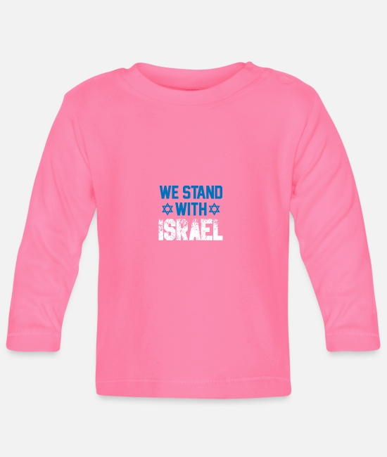 Gaza Strip Baby Long-Sleeved Shirts - I stand with Israel gift jew democracy - Baby Longsleeve Shirt azalea