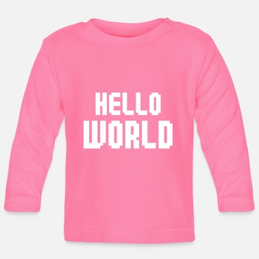 Gamer Hello World - T-shirt manches longues Bébé