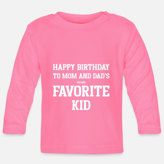 Birthday Baby Clothes - Birthday Birthday Kid Gift Party Celebrate - Baby Longsleeve Shirt azalea