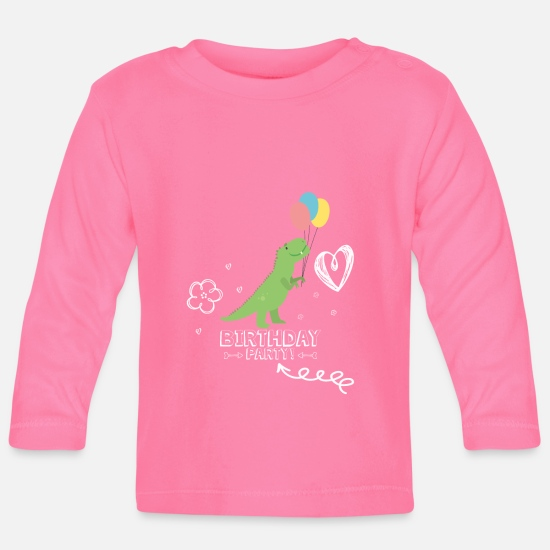 Birthday Baby Clothes - Birthday party - Baby Longsleeve Shirt azalea
