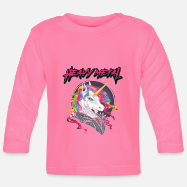 Rock N Roll Heavy Metal Unicorn Music Metalcore Rock Gift - Baby Longsleeve Shirt