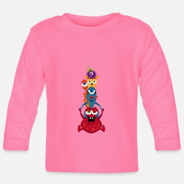 Monster Eine bunte Monster Familie - Baby Langarmshirt