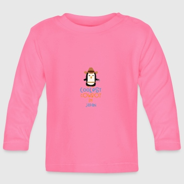 Coolest Cowboy Penguin in Japan Gift - Baby Long Sleeve T-Shirt