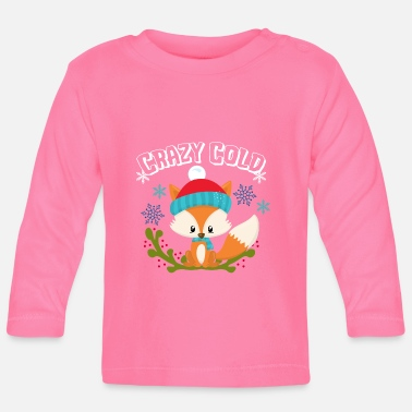 Winter Crazy Cold Fox Snow Gift Winter Xmas idee - Baby longsleeve