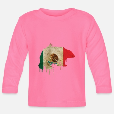 South America Mexico Bear South America - Baby Long Sleeve T-Shirt