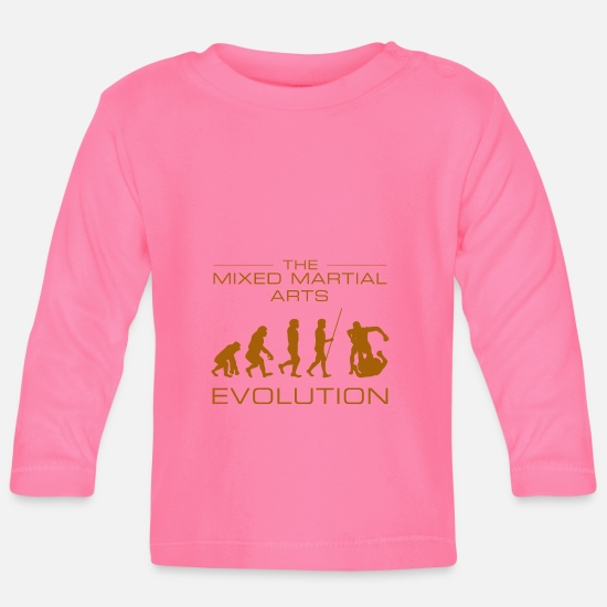 Mma Baby Clothes - MMA evolution - Baby Longsleeve Shirt azalea