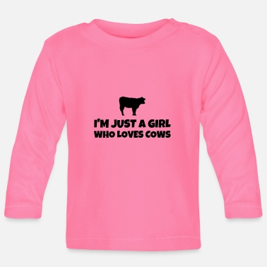 Just Im Just A Girl Who Loves Cows - Baby Langarmshirt