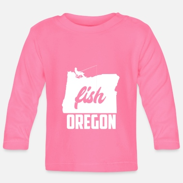 Motto Oregon Pride Fish Oregon Pacific North West - Langarmet baby T-skjorte