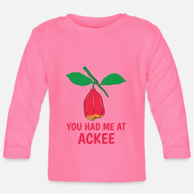 Nom You Had Me At Ackee Jamaican Food Yardie design - T-shirt manches longues Bébé