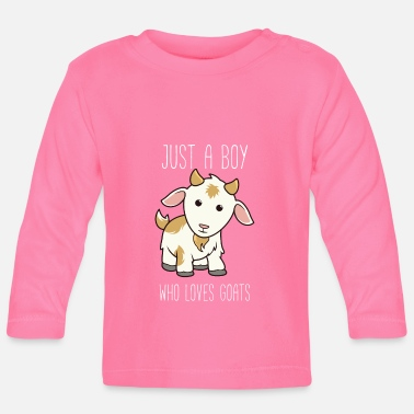 Just Funny Just A Boy Who Loves Goats product - Baby longsleeve