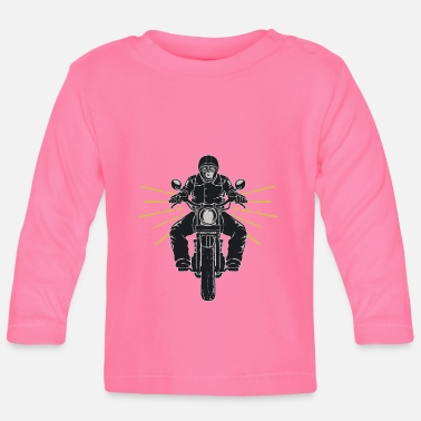 Motorcycle Club Motorcycle Chopper Motorcycle Club Biker - Camiseta de manga larga bebé