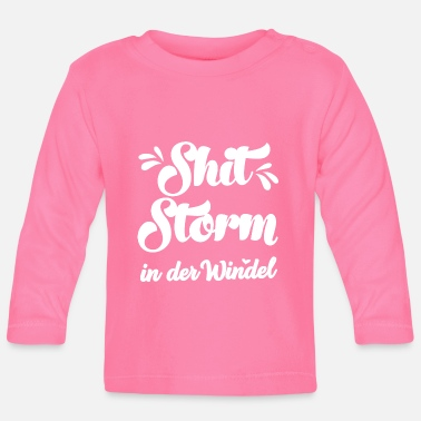 Shitstorm i Ble Baby Bump Baby Baby Party - Langærmet babyshirt