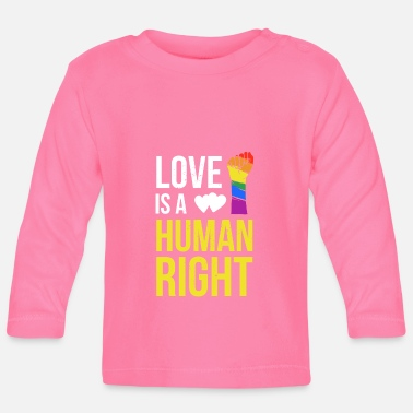 Human Cooles Love is a Human Right T-Shirt - Baby Langarmshirt