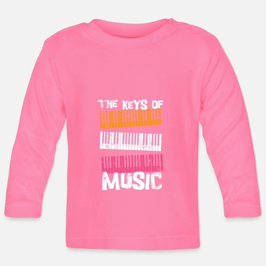 Gift Idea Baby Clothes - Music Piano Piano Composer - Baby Longsleeve Shirt azalea