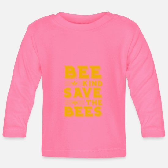 Gift Idea Baby Clothes - Savior the bees - Baby Longsleeve Shirt azalea