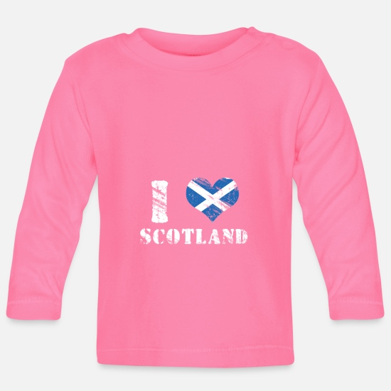 Love Baby Clothes - Scotland Love Patriot Gift - Baby Longsleeve Shirt azalea