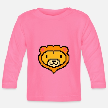 Pixelland Pixel Lion Game Console Computer Kids Gift - Baby Longsleeve Shirt