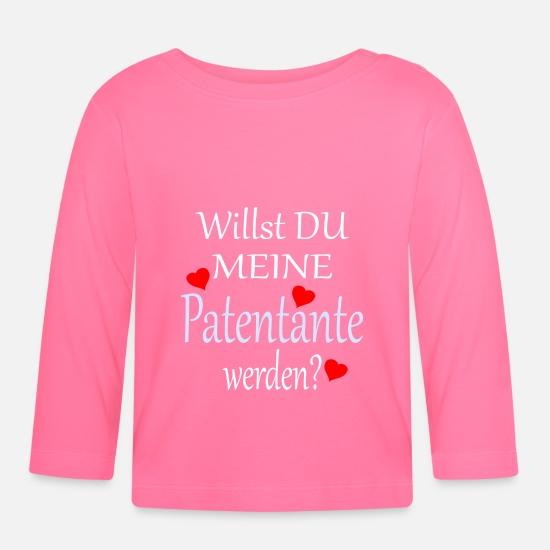 Patentante Taufe Frage Süsser Spruch Baby Langarmshirt