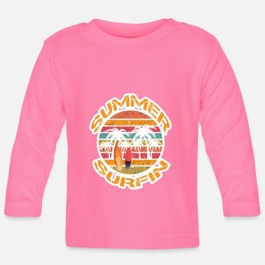 Summer Ts & Tanks Summer Surfing, Summer TS, Gift - Baby Longsleeve Shirt