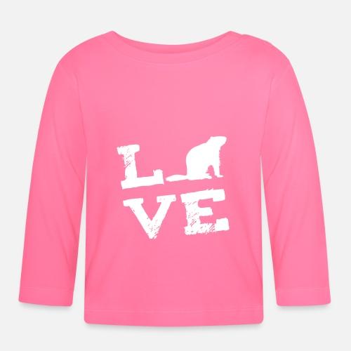 5ce7b15e78656 Cadeau d amour de marmotte marmotte T-shirt manches longues Bébé    Spreadshirt