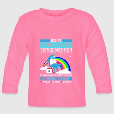 Rescue Princess Unicorn gift - Baby Long Sleeve T-Shirt