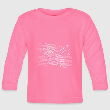 American flag - Baby Long Sleeve T-Shirt