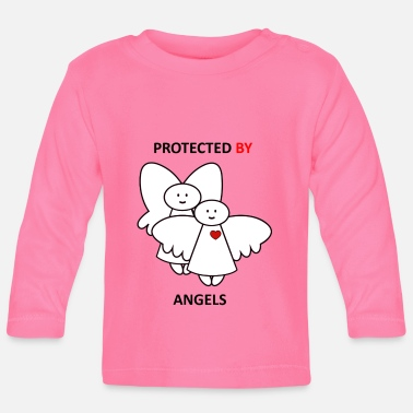 Mitch Angelo Protected by Angels - Protected by the Angels - Baby Longsleeve Shirt