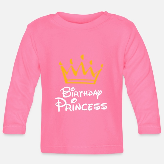Birthday Baby Clothes - Birthday Princess Happy Birthday Gift - Baby Longsleeve Shirt azalea