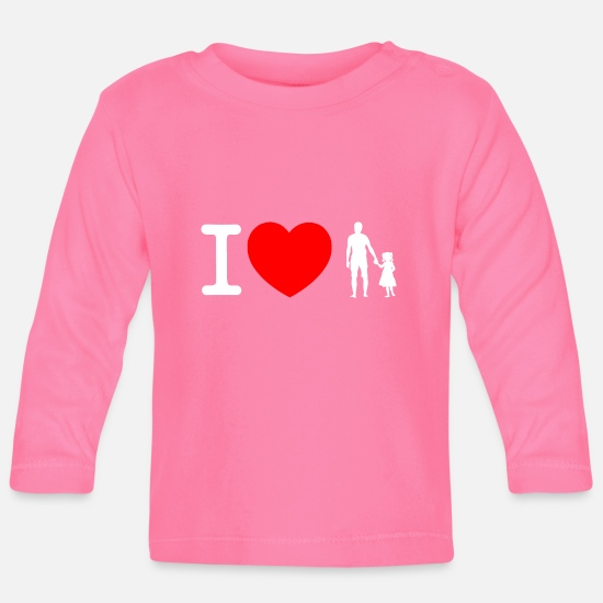 6e09cb795ff Te amo padre e hija - blanco Camiseta de manga larga bebé | Spreadshirt