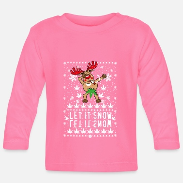 Hanf 238 Hirsch Cerf Rudolph Dabbing Let it Snow Hanf - T-shirt manches longues Bébé