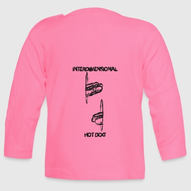 Intersimensional HotDog with text (text) - Baby Long Sleeve T-Shirt